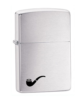 200Pl A-Brushed Chrome Pipe Zippo Lighter