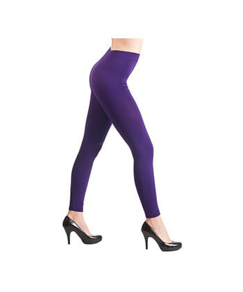 Purple SeaMLess Full Length Leggings-ML528Sd-Women