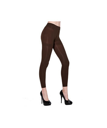 Coffee Footless Tights-167Sd-Women