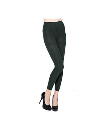 Forest Green Footless Tights-167Sd-Women