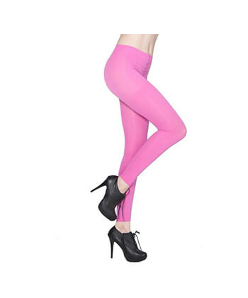 Pink Footless Tights-167Sd-Women