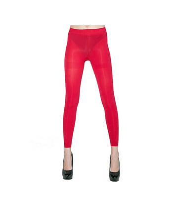Red Footless Tights-167Sd-Women