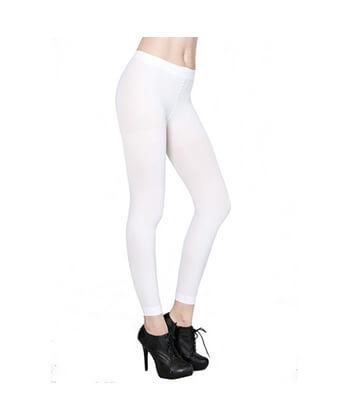 Yelete -White Footless Tights-167Sd-Women