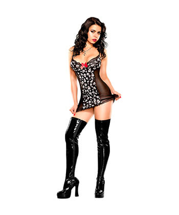 B418 Underwire Chemise & G String Lingerielarge -Women