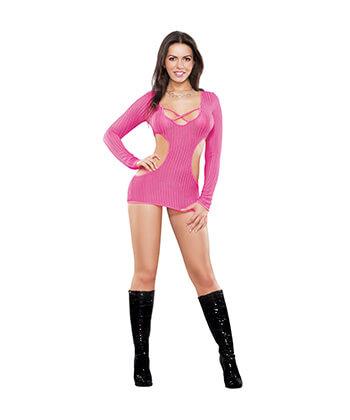 B444 Cut Out Dress & G-String Pink Lingeriemedium -Women