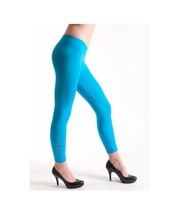 Rguw254-6987 SeaMLess Fashion-Blue Legging-Women