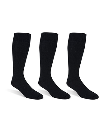 Set Of 3 Pair Socks-Black -Men