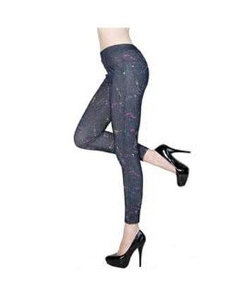 Yelete-827Jn036 Blue Legging-Women