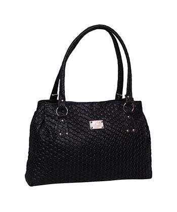 Indiana Ladies Handbag Black Nb-0054 Black-Women