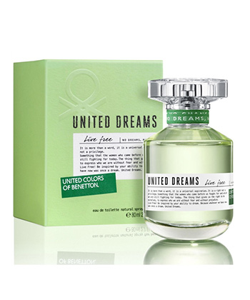 Benetton United Dreams Live Free Edt 75ML-Women