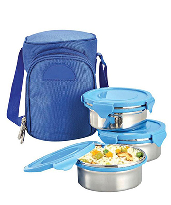Zippy Lunch Box W/ 3 Metal Containers